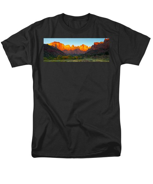 Towers Of The Virgin And The West Men's T-Shirt  (Regular Fit) by Panoramic Images