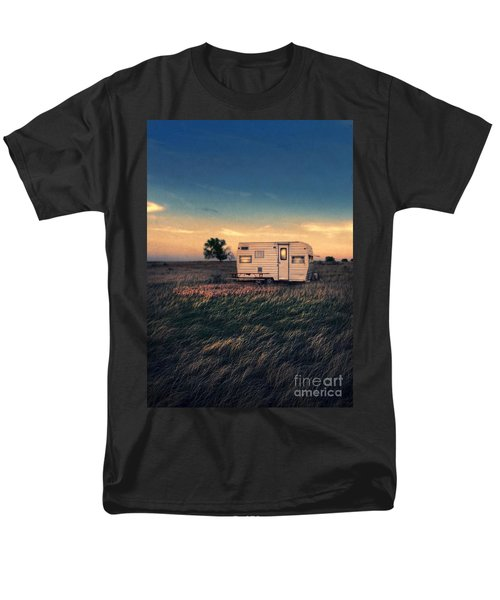 Trailer At Dusk Men's T-Shirt  (Regular Fit) by Jill Battaglia