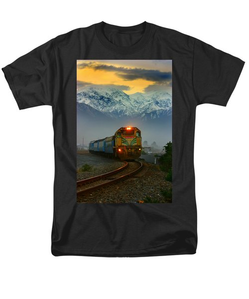 Train In New Zealand Men's T-Shirt  (Regular Fit) by Amanda Stadther