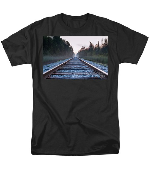 Men's T-Shirt  (Regular Fit) featuring the photograph Train Tracks To Nowhere by Patrick Shupert
