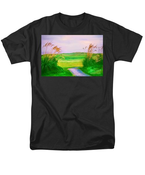 Tralee Ireland Water Color Effect Men's T-Shirt  (Regular Fit) by Tom Prendergast
