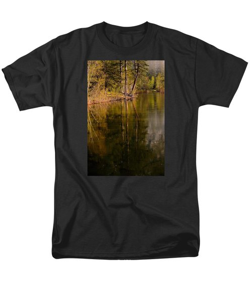 Tranquil Merced River Men's T-Shirt  (Regular Fit) by Duncan Selby