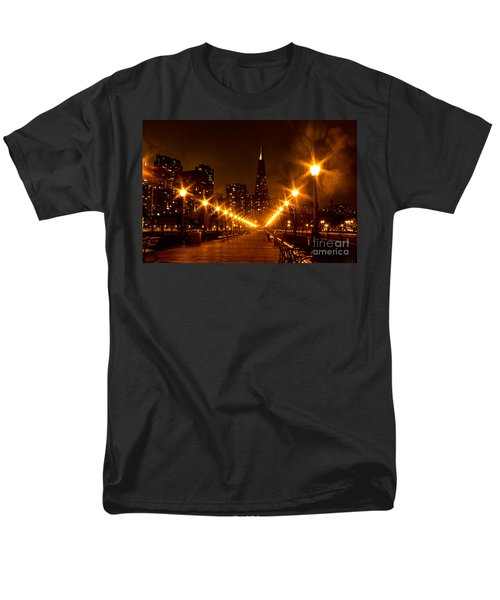 Transamerica Pyramid From Pier Men's T-Shirt  (Regular Fit) by Suzanne Luft