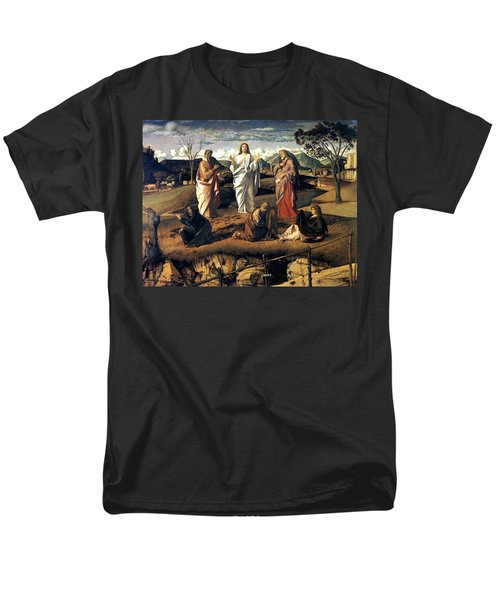 Men's T-Shirt  (Regular Fit) featuring the painting Transfiguration Of Christ 1487 Giovanni Bellini by Karon Melillo DeVega