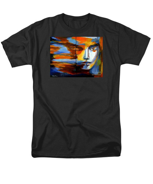 Men's T-Shirt  (Regular Fit) featuring the painting Transition - Diptic by Helena Wierzbicki