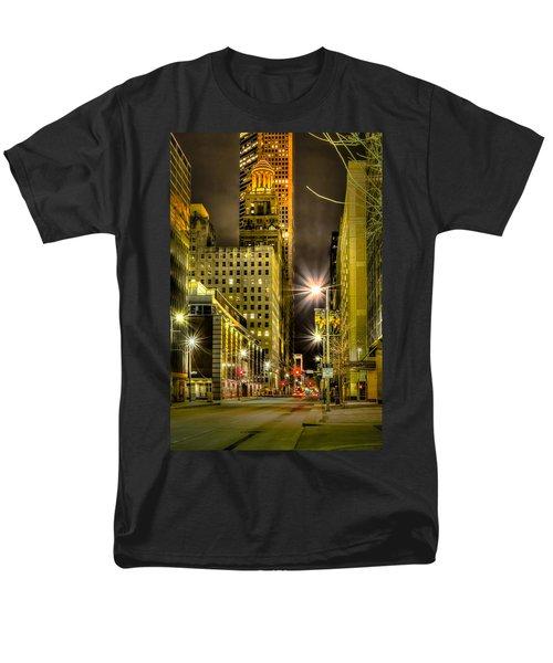 Travis And Lamar Street At Night Men's T-Shirt  (Regular Fit) by David Morefield