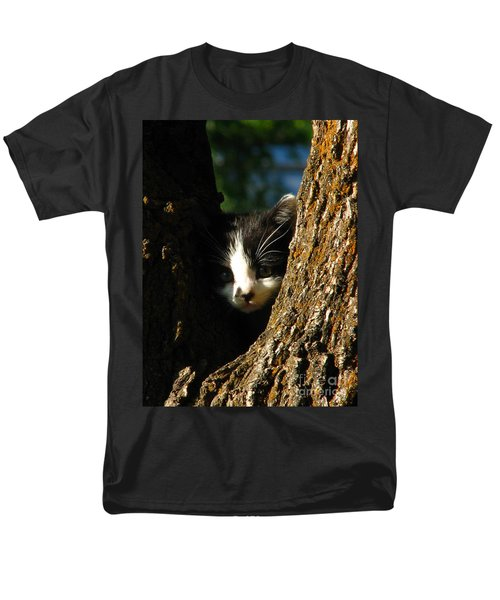 Tree Cat Men's T-Shirt  (Regular Fit) by Greg Patzer