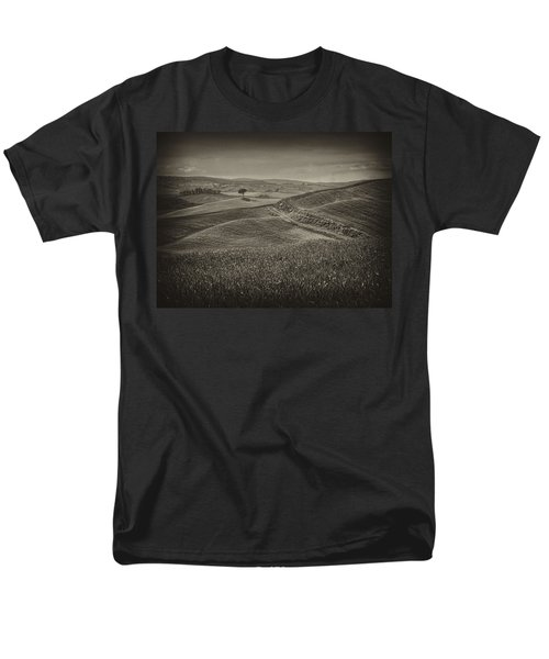 Men's T-Shirt  (Regular Fit) featuring the photograph Tree In Sienna by Hugh Smith