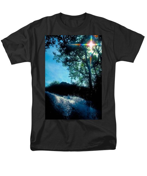 Men's T-Shirt  (Regular Fit) featuring the photograph Tree Planted By Streams Of Water by Marie Hicks