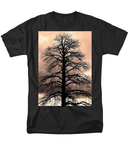 Tree Silhouette Men's T-Shirt  (Regular Fit) by Laurel Powell