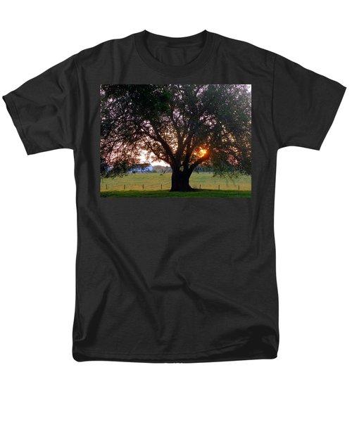 Tree With Fence. Men's T-Shirt  (Regular Fit) by Joseph Skompski