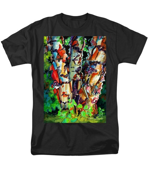 Men's T-Shirt  (Regular Fit) featuring the painting Trio Birch 2014 by Kathy Braud