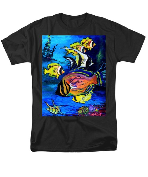 Tropical Fish Men's T-Shirt  (Regular Fit) by Karon Melillo DeVega