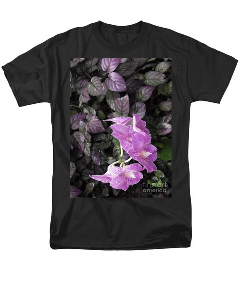 Tropical Orchids Men's T-Shirt  (Regular Fit) by Ellen Cotton