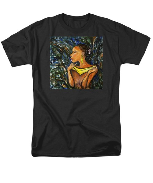 Men's T-Shirt  (Regular Fit) featuring the painting Tropical Shower by Xueling Zou