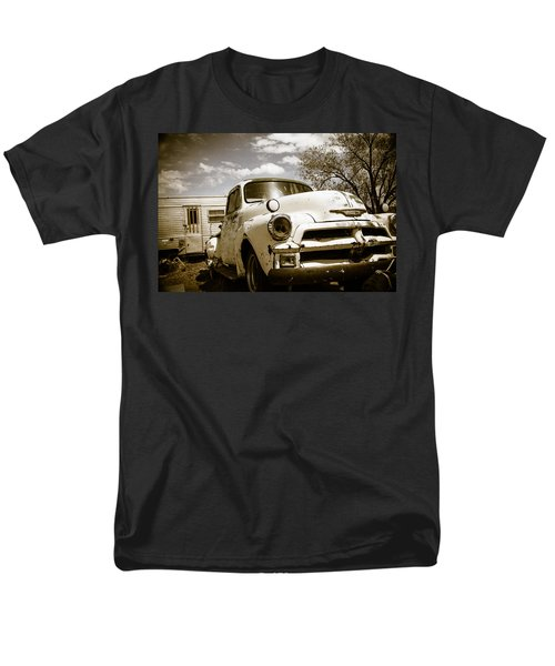 Men's T-Shirt  (Regular Fit) featuring the photograph Truck And Trailer by Steven Bateson