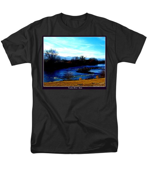 Men's T-Shirt  (Regular Fit) featuring the photograph Truckee River In Motion by Bobbee Rickard