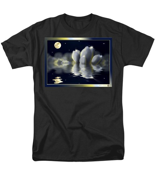 Tulips And Moon Reflection Men's T-Shirt  (Regular Fit) by Peter v Quenter