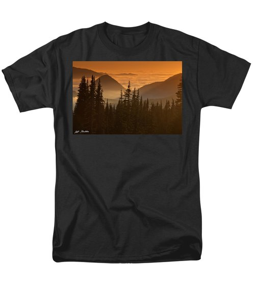 Men's T-Shirt  (Regular Fit) featuring the photograph Tumtum Peak At Sunset by Jeff Goulden