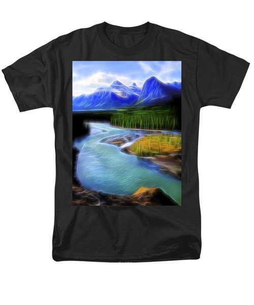 Men's T-Shirt  (Regular Fit) featuring the digital art Turquoise Light 1 by William Horden