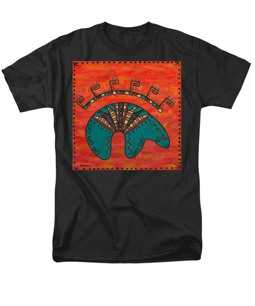 Turquoise Oso Bear Fetish Men's T-Shirt  (Regular Fit) by Susie WEBER