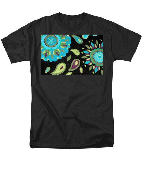 Men's T-Shirt  (Regular Fit) featuring the photograph Tapestry Turquoise Rug by Janette Boyd