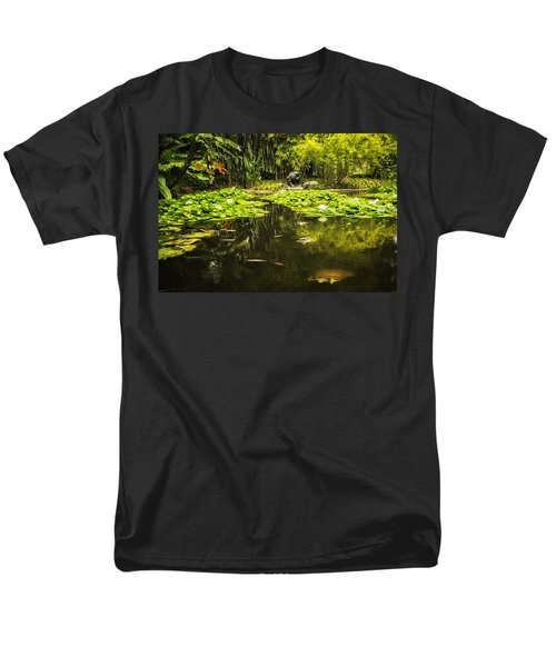 Turtle In A Lily Pond Men's T-Shirt  (Regular Fit) by Belinda Greb