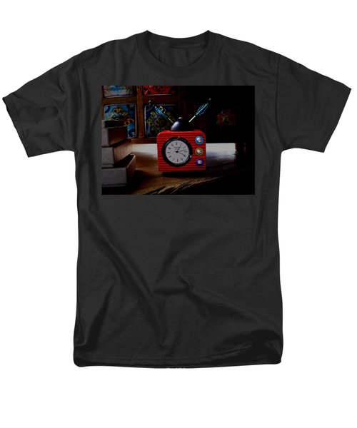 Tv Clock Men's T-Shirt  (Regular Fit) by David Pantuso