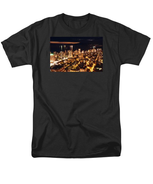 Men's T-Shirt  (Regular Fit) featuring the photograph Twilight English Bay Vancouver Mdlxvii by Amyn Nasser