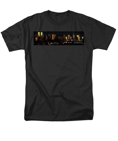 Men's T-Shirt  (Regular Fit) featuring the photograph Twilight Reflections On New York City by Lilliana Mendez