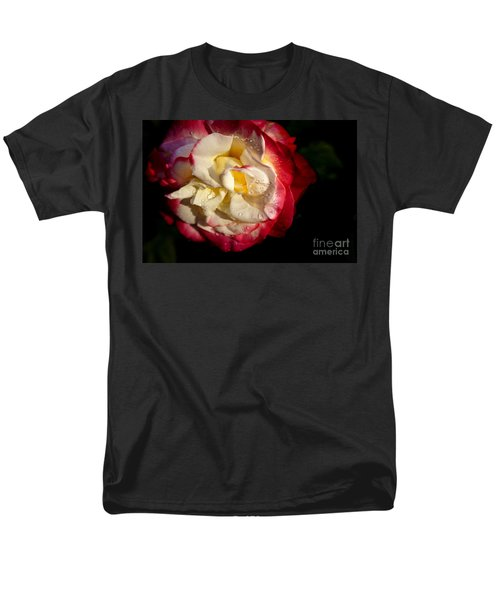Two Color Rose Men's T-Shirt  (Regular Fit) by David Millenheft