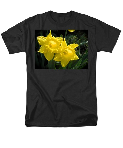 Men's T-Shirt  (Regular Fit) featuring the photograph Two Daffodils by Kathy Barney