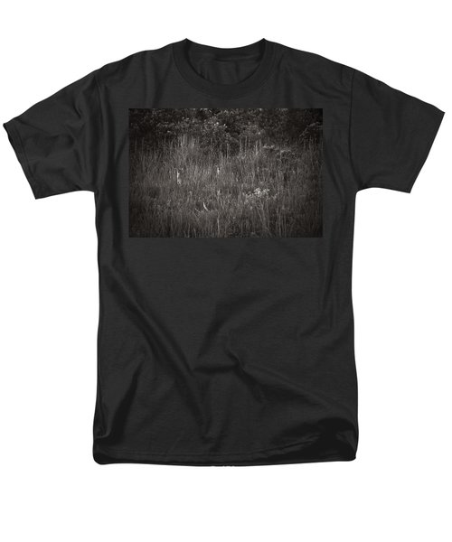 Men's T-Shirt  (Regular Fit) featuring the photograph Two Deer Hiding by Bradley R Youngberg