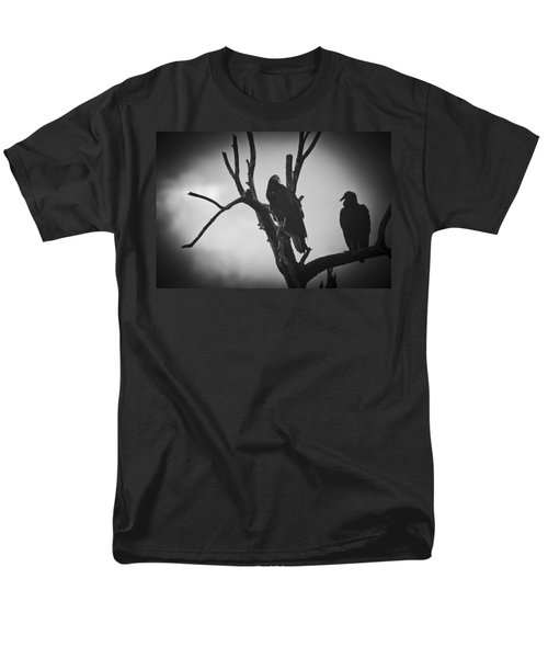 Men's T-Shirt  (Regular Fit) featuring the photograph Two Vultures by Bradley R Youngberg