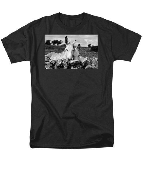 Two White Irish Donkeys Men's T-Shirt  (Regular Fit) by RicardMN Photography