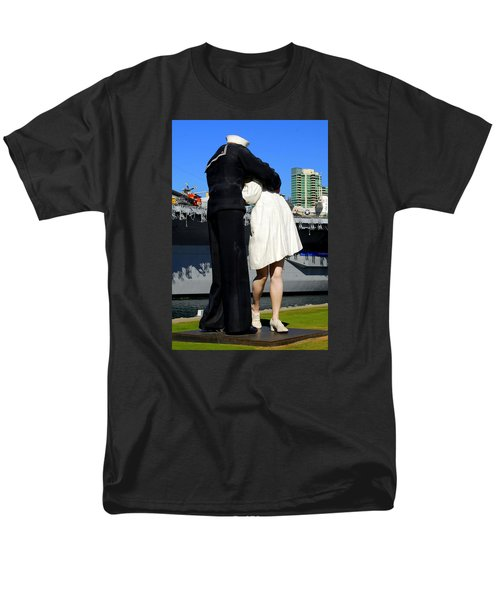 Unconditional Surrender Kiss Men's T-Shirt  (Regular Fit) by Caroline Stella
