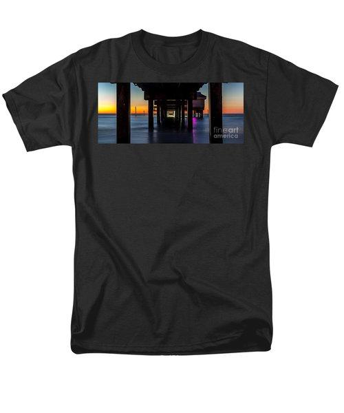 Under Clearwater Beach Pier Men's T-Shirt  (Regular Fit) by Steven Reed