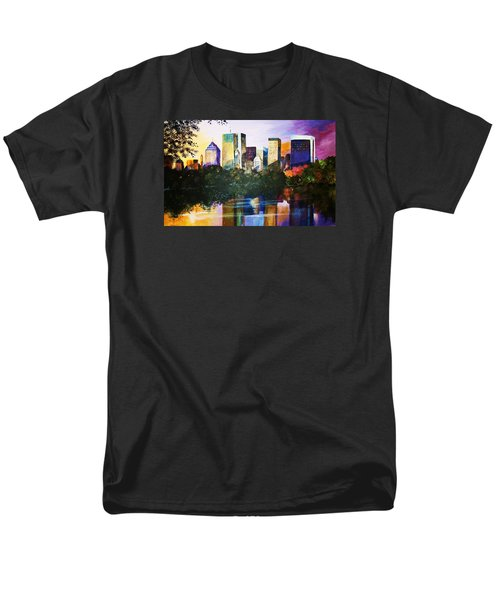 Men's T-Shirt  (Regular Fit) featuring the painting Urban Reflections by Al Brown