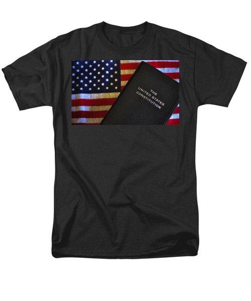 United States Constitution And Flag Men's T-Shirt  (Regular Fit) by Ron White