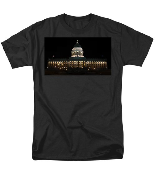 Men's T-Shirt  (Regular Fit) featuring the photograph Utah State Capitol Front by David Andersen