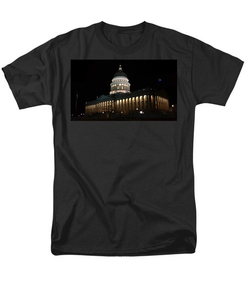 Men's T-Shirt  (Regular Fit) featuring the photograph Utah State Capitol East by David Andersen