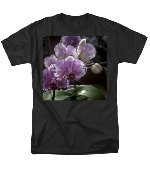 Variegated Fuscia And White Orchid Men's T-Shirt  (Regular Fit) by Lynn Palmer