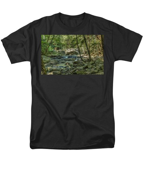 Men's T-Shirt  (Regular Fit) featuring the photograph Vaughan Woods Bridge by Jane Luxton