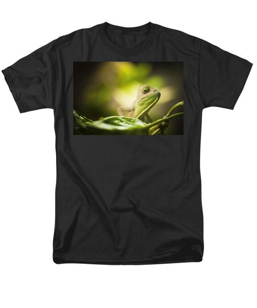 Veiled Chameleon Is Watching You Men's T-Shirt  (Regular Fit) by Bradley R Youngberg