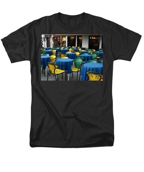 Men's T-Shirt  (Regular Fit) featuring the photograph Venetian Cafe by Robin Maria Pedrero