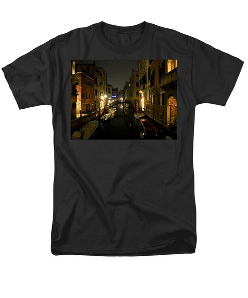Men's T-Shirt  (Regular Fit) featuring the photograph Venice At Night by Silvia Bruno