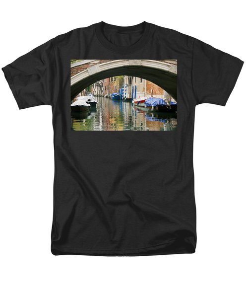 Men's T-Shirt  (Regular Fit) featuring the photograph Venice Canal Boat by Silvia Bruno