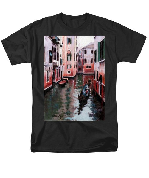 Men's T-Shirt  (Regular Fit) featuring the painting Venice Gondola Ride by Janet King