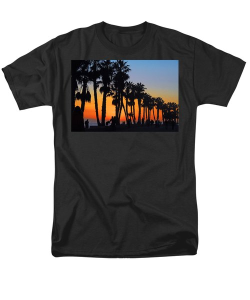 Men's T-Shirt  (Regular Fit) featuring the photograph Ventura Boardwalk Silhouettes by Lynn Bauer