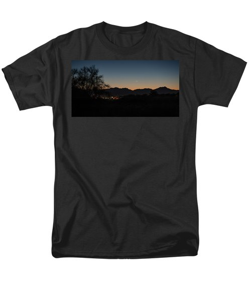 Men's T-Shirt  (Regular Fit) featuring the photograph Venus And A Young Moon Over Tucson by Dan McManus